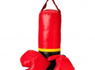 Hanging Punching Bag with Boxing Gloves