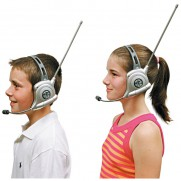 Metallic Walkie Talkies 2 Channel Headset