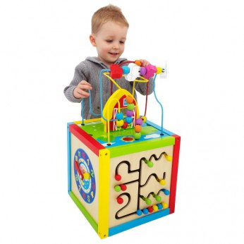 Wooden 5 in 1 Activity Cube reviews