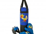 Punching Bag with Boxing Gloves and Headgear