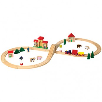 40 piece Wooden Train Set reviews