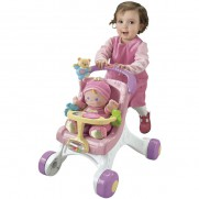 Fisher Price Pink Stroller with Doll