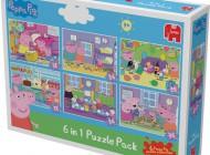 Peppa Pig 6 Jigsaw Puzzles