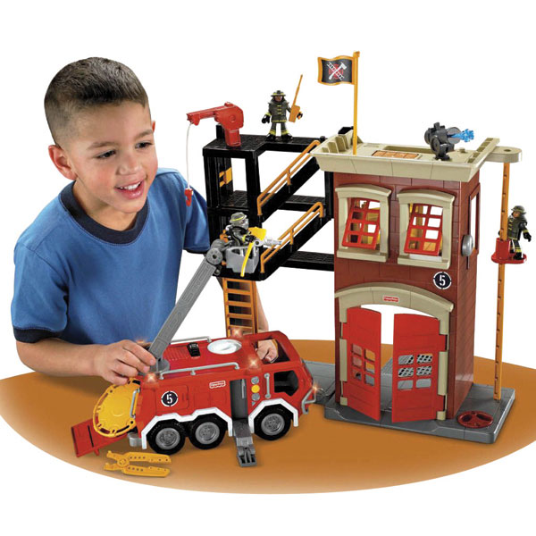 Fisher Price Imaginext Firestation and Engine Reviews - Toylike