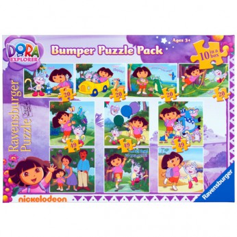 Dora The Explorer Bumper Puzzle Pack 10 In A Box reviews