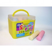 20pcs Jumbo Colour Chalk Bucket
