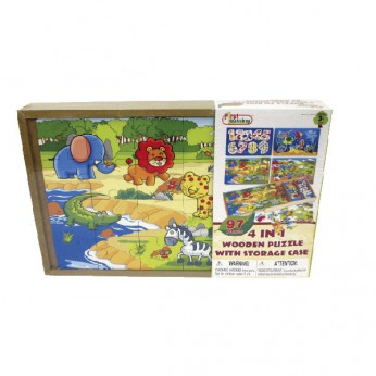 4 in 1 Wood Puzzle With Storage Case reviews