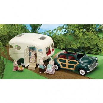 Sylvanian Caravan and Family Car