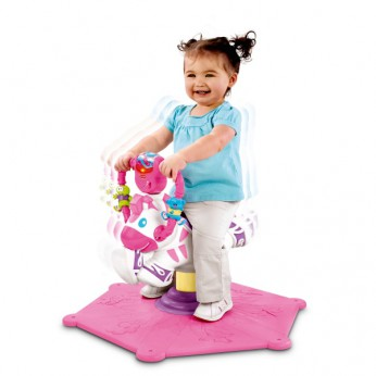 Fisher Price Bounce and Spin Zebra Pink reviews