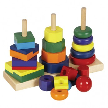Wooden Geometric Stacker reviews