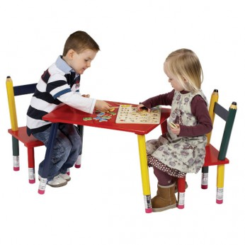 Wooden Pencil Table and 2 Chairs reviews