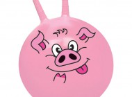 18in Pink Pig Hopper