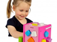 Shape Sorting Cube Pink