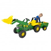 John Deere Large Tractor, Loader and Trailer