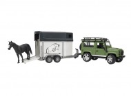 1:16 Land Rover Defender with Trailer and Horse
