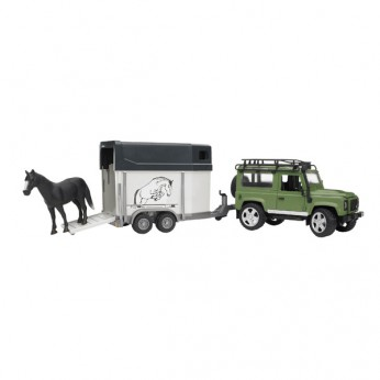 1:16 Land Rover Defender with Trailer and Horse reviews