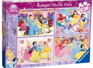 Disney Princess 4x100pc Bumper Jigsaw
