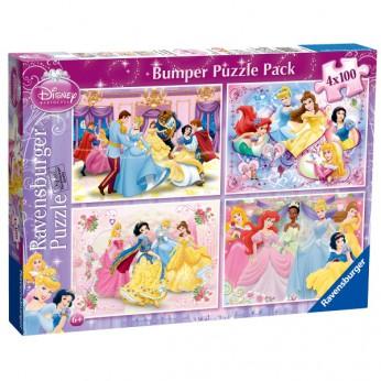 Disney Princess 4x100pc Bumper Jigsaw