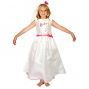 Barbie Bride Dress with Veil and Posy