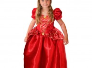 Crystal Ruby Princess Dress with Tiara