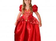 Crystal Ruby Princess Dress with Tiara