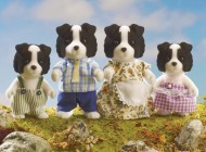 Sylvanian Border Collie Family
