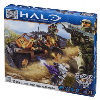 Mega Bloks Halo UNSC Spade vs Skirmisher reviews