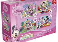 Minnie Mouse 4 in 1 Shaped Puzzle