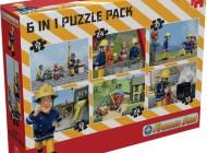 Fireman Sam 6 in 1 Bumper Puzzle Pk
