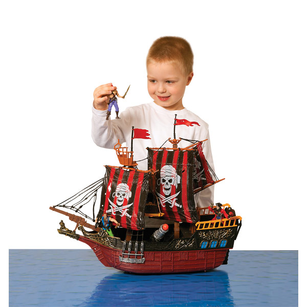 Pirate Toys For Boys : Deluxe pirate ship playset reviews toylike