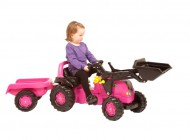 Rolly Pink Tractor Loader and Trailer