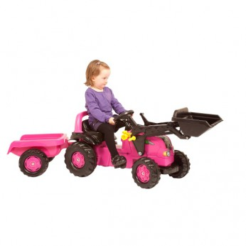 Rolly Pink Tractor Loader and Trailer reviews