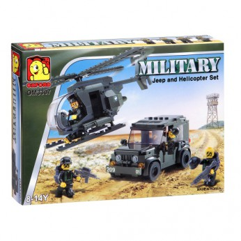 Military Jeep and Helicopter Set reviews