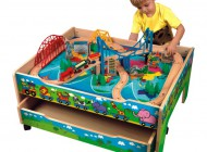 4 in 1 Activity Train Table with Drawer
