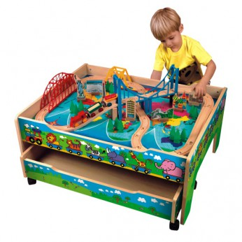 4 in 1 Activity Train Table with Drawer reviews