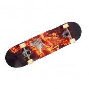 78cm Fire Skull Skateboard