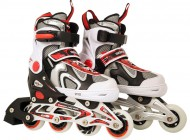 Adjustable Inline Skate Red/Black (Size 33-36)