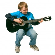 36″ Black Classical Guitar