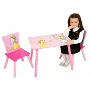 Wooden Princess Table and Chair Set