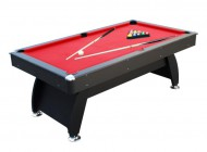 6ft Black and Red Pool Table