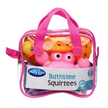 Playgro Bath Time Squirties 8pcs Pink