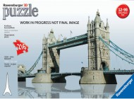 3D Tower Bridge of London 216 Piece Puzzle