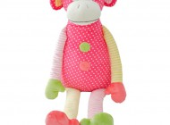 Pink Sitting Monkey