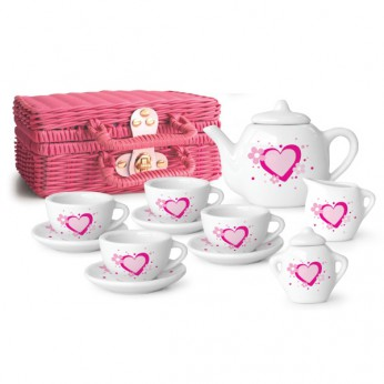 Pink and White Porcelain Tea Set reviews