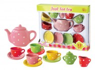 Multi Color Dot Tea Set