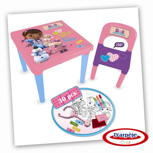 Doc Mcstuffins Table And Chair Set Part - 20: Doc McStuffins Activity Table And Accessories Reviews - Toylike
