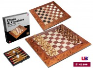 2 in 1 Magnetic folding peach wood chess