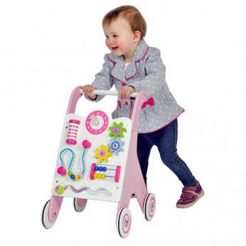 Wooden Baby Walker Pink reviews