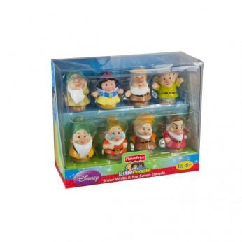 Little People Snow White 7 Dwarfs Figures