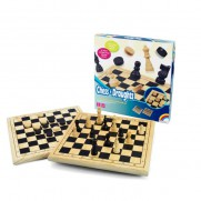 Wooden Chess and Draughts Board Game